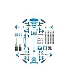 Kit de actualización de aluminio Yeah Racing Tamiya TT-02 (azul)