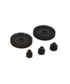 ECX Conjunto de piñón y engranaje recto 1/18 4WD Todos (ECX212002)