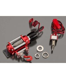 INT Realistic Power Winch Red 1/10 Rock Crawler