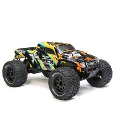 ECX 1/10 Ruckus 2WD Monster Truck Electric Con Escobilla RTR, Negro / Amarillo