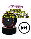 Sweep Racing 442520 Sweep FAST FORWARD SOFT FOAM TIRES for GT8 17mm HEX 2pcs set