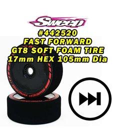 Sweep Racing 442520 Sweep NEUMÁTICOS DE ESPUMA SUAVE Fast Forward PARA GT8 17mm HEX 2pcs set