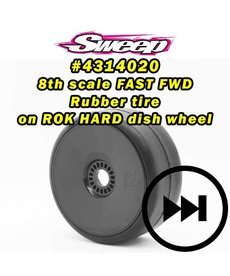 Sweep Racing 4314020 GT2 Drag Racing-Speed runs BELTED preglued wheel option tires set 17mm HEX