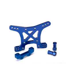 Traxxas 6839x Shock tower, front, 7075-T6 aluminum (blue-anodized)