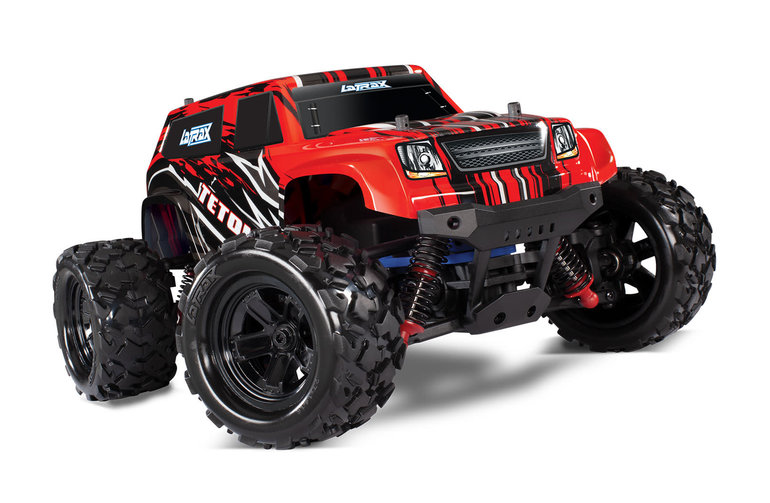 Traxxas LaTrax Red RTR Teton 1/18 Scale 4WD Brushed Electric Monster Truck W Battery