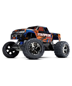 Traxxas 36076-4 Orange Stampede VXL 1/10 Scale Monster Truck RTR w TSM TQi 2.4GHz Radio Velineon VXL 3s Brushless