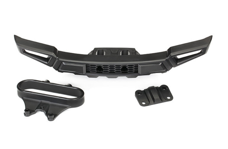 Traxxas Bumper, front/ bumper mount, front/ adapter (fits 2017 Ford Raptor)
