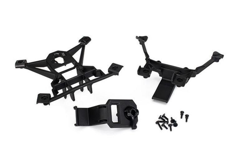 Traxxas 7715 Body mounts, front & rear/3x15mm BCS (1)/ 3x12mm shoulder screw (2)/ 3x10mm flat-head machine screw (6)/ 3x15mm flat-head machine screw (2)