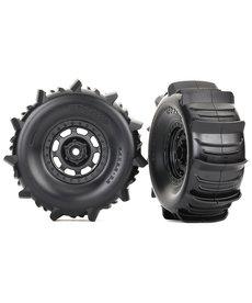 Traxxas 8475 Neumáticos y ruedas, ensamblados, pegados (ruedas Desert Racer, neumáticos de paleta, insertos de espuma) (2)