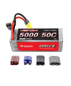 Venom Racing 15031 DRIVE 50C 4S 5000mAh 14.8V LiPo Hardcase ROAR Battery