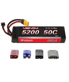 Venom Racing 15173 DRIVE 50C 3S 5200mAh 11.1V LiPo Battery with UNI 2.0 Plug