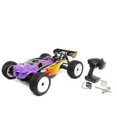 LOS 1/8 8IGHT-T 4WD Truggy Nitro RTR, Purple/Yellow (LOS04011)