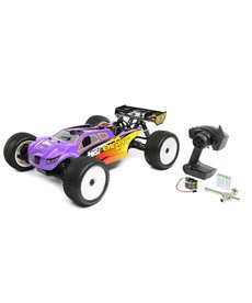 LOSI 1/8 8IGHT T 4WD RC Truggy Nitro RTR Purple / Yellow (LOS04011)