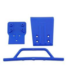 RPM 80025 RPM Traxxas Slash 4x4 Front Bumper & Skid Plate (Blue)