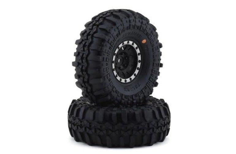 Pro-Line Racing 1197-13 Neumáticos Pro-Line Interco Super Swamper 1.9 con ruedas Impulse (negro / plateado) (2) (G8)
