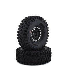 """Proline Racing 10128-13 Neumáticos Pro-Line Hyrax 1.9 """"con ruedas de impulso (negro / plateado) (2) (G8) con hexágono de 12 mm"""