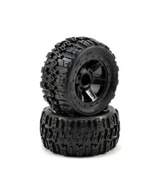 PRO 1194-11 Pro-Line Pre-Mounted Trencher Desperado Wheels (2) (1/16 E-Revo) (Black)