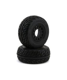 Pro-Line Racing 1167-10 Pro-Line Street Fighter SC 2.2/3.0 Tires w/Raid Wheels (Black) (2) (M2) w/12mm Removable Hex