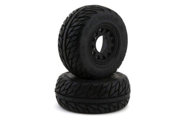 Pro-Line Racing 1167-10 Neumáticos Pro-Line Street Fighter SC 2.2 / 3.0 con ruedas de ataque (negro) (2) (M2) con hexágono extraíble de 12 mm