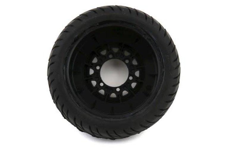 Pro-Line Racing 1167-10 Pro-Line Street Fighter SC 2.2/3.0 Tires w/Raid Wheels (Black) (2) (M2) w/12mm Removable Hex