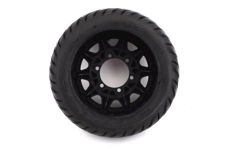 "Proline Racing 10161-10 Pro-Line Street Fighter LP 2.8"" Tires w/Raid Rear Wheels (2) (Black) (M2) w/12mm Removable Hex"