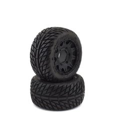 """Proline Racing 10161-10 Neumáticos Pro-Line Street Fighter LP de 2.8 """"con ruedas traseras Raid (2) (negro) (M2) con hexágono extraíble de 12 mm"""