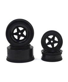 JCO 3387B JConcepts Startec Street Eliminator Drag Racing Wheels (Negro) con 12 mm Hex (2x ruedas traseras SCT y 2x ruedas delanteras con errores)