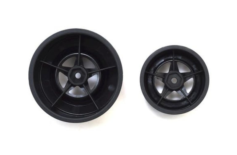 JCO 3387B JConcepts Startec Street Eliminator Drag Racing Wheels (Black) w/12mm Hex (2x Rear SCT Wheels & 2x Front Buggy Wheels)