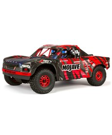 Arrma ARA106058T2 1/7 MOJAVE 6S BLX 4WD Truck sin escobillas RTR, rojo / negro