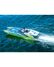 Traxxas 57046-4-GRNX DCB Green M41 Catamaran Widebody Brushless 40' Race Boat Fully assembled RTR TQi 2.4GHz Castle Creations 540XL Motor, VXL-6s Marine ESC, TSM