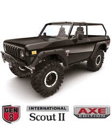Redcat Racing GEN8-AXE-BLACK Gen8 Scout II Axe Edition 1/10 Scale Crawler Black