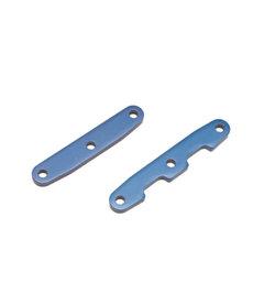 Traxxas 6823 Bulkhead tie bars, front & rear, aluminum (blue-anodized)