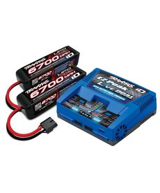Traxxas ( 2997 ) X-Maxx Battery charger completer pack (includes 2973 Dual iD charger 2890X 6700mAh 14.8V 4 cell 25C LiPo battery