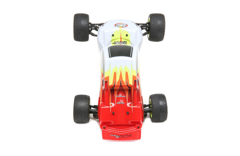 LOSI LOS01015T1 1/18 Mini T 2.0 2WD RC Stadium Truck Brushed RTR Red White