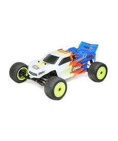 LOSI LOS01015T2 1/18 Mini-T 2.0 2WD RC Stadium Truck Brushed RTR Blue & White