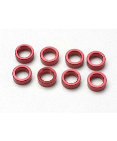 Traxxas 5133 Spacer, pushrod (aluminum, red) (use with 5318 or 5318X pushrod and 5358 progressive 2 rockers) (8)