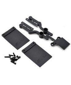 RPM Kit de placa de matrícula y faldón de barro: solo parachoques SC10 2WD R