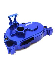 Integy C28847BLUE Cubierta de engranaje de montaje de motor fijo mecanizada en palanquilla para Arrma 1/10 Granite 4X4 3S BLX