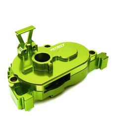 Integy C28847GREEN Cubierta de engranaje de montaje de motor fijo mecanizada en palanquilla para Arrma 1/10 Granite 4X4 3S BLX