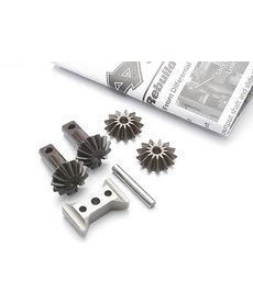 Traxxas 5382X  Gear set, differential (output gears (2)/ spider gears (2)/ spider gear shaft/ diff carrier support)