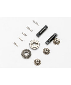 Traxxas 7082  Gear set, differential (output gears (2)/ spider gears (3))/ differential output shafts (2)/ 1.5x6mm pin (3)/ 1.5x8mm pin (2)