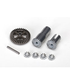 Traxxas 7579X  Gear set, differential, metal (output gears (2)/ spider gears (4)/ ring gear, 35T (1)/ 2x14.8mm pin (1))