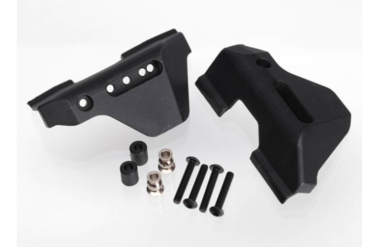 Traxxas 6733  Suspension arm guards, rear (2)/ guard spacers (2)/ hollow balls (2)/ 3X16mm BCS (8)