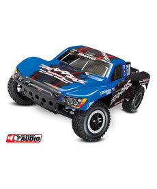 Traxxas 58034-2-BLUE Slash 1/10 Scale Electric Brushed RC 2WD Short Course Racing Truck with TQ 2.4GHz and On Board Audio