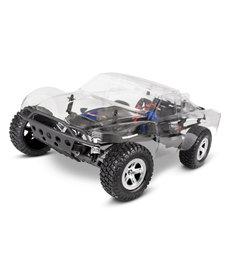 Traxxas 58014-4 RC Slash 2WD Kit eléctrico sin ensamblar cepillado 1/10 Scale 2WD Short Course Racing Truck con cuerpo transparente TQ 2.4GHz XL-5 ESC