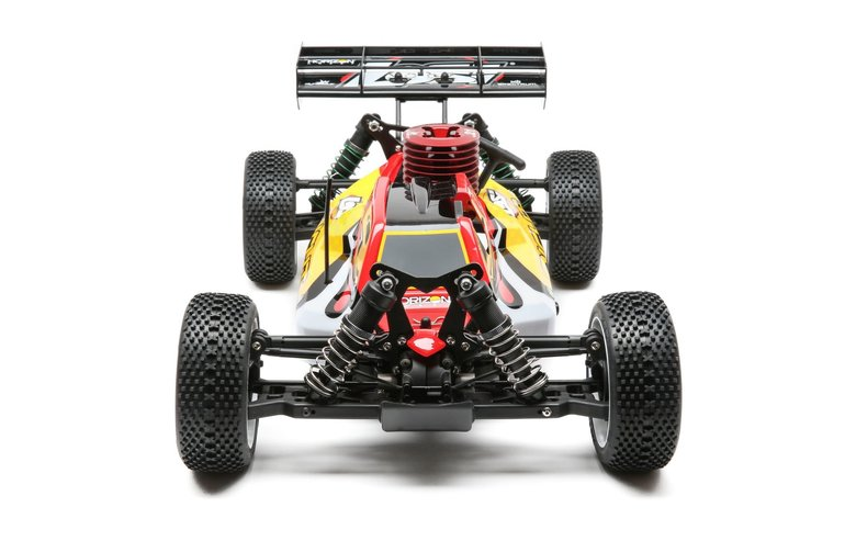 LOSI 1/8 Scale RC Losi 8IGHT 4WD Buggy Nitro RTR Red Yellow