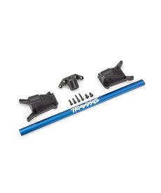 Traxxas 6730X Juego de abrazaderas de chasis, azul (se adapta a los modelos Rustler® 4X4 o Slash 4X4 equipados con chasis Low-CG)