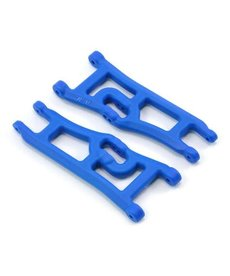 RPM 70665  RPM Wide Front A-arms (2) , Blue; Traxxas Rustler Stampede