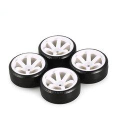 Generic Neumáticos de deriva de patrón duro blanco hexagonal RC de 12 mm 1/10 RC Para carretera 6 rayos