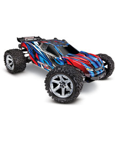 Traxxas 67076-4-Blue Rustler 4X4 VXL 1/10 Scale Stadium Truck RTR with TQi Traxxas Link Enabled 2.4GHz Radio System Velineon VXL 3s brushless ESC and Traxxas Stability Management TSM
